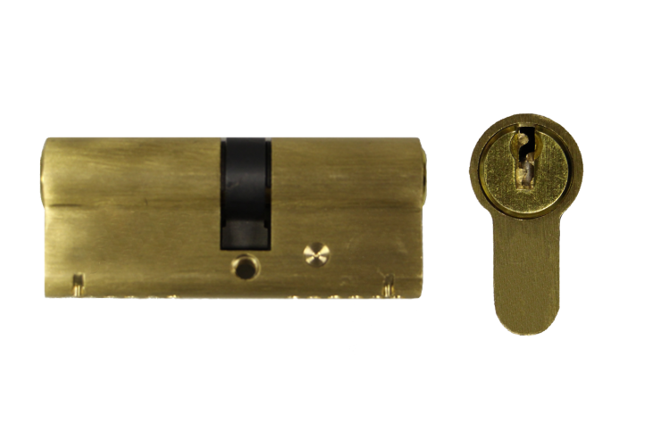 Brass Euro Cylinder Lock - Key Alike - Box of 10