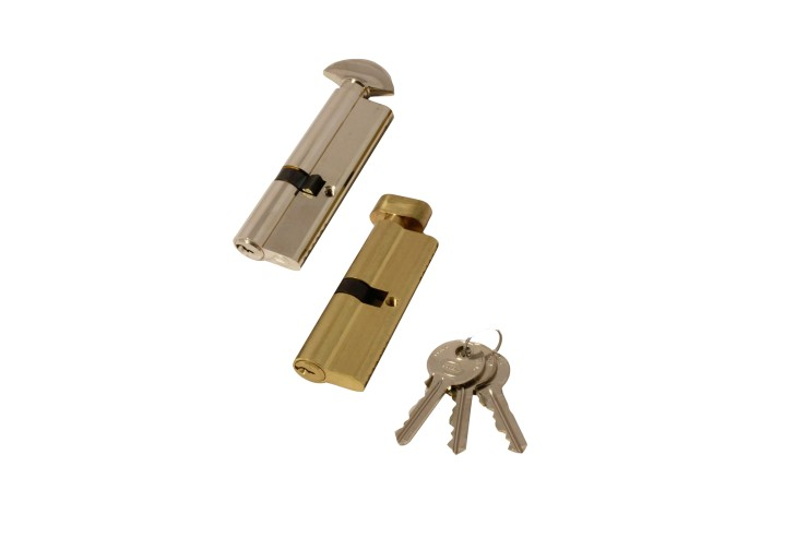 Brass Euro Cylinder Lock - Thumbturn Inside - Box of 10